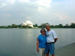 At the Jefferson Memorial Sep 2003